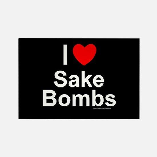 Sake Bombs Rectangle Magnet