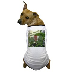 butterfly on leaf Dog T-Shirt