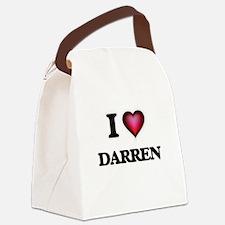 I love Darren Canvas Lunch Bag