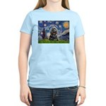Starry Night / Black Cocke Women's Light T-Shirt