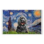 Starry Night / Black Cocke Sticker (Rectangle)