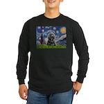 Starry Night / Black Cocke Long Sleeve Dark T-Shir