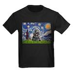 Starry Night / Black Cocke Kids Dark T-Shirt