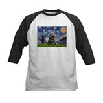 Starry Night / Black Cocke Kids Baseball Jersey