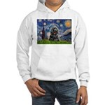 Starry Night / Black Cocke Hooded Sweatshirt