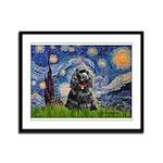 Starry Night / Black Cocke Framed Panel Print