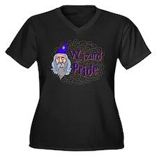 Wizard Pride Women's Plus Size V-Neck Dark T-Shirt