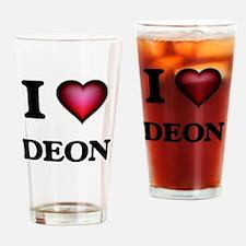 I love Deon Drinking Glass
