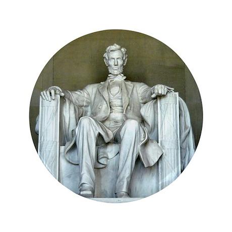 """Lincoln Memorial 3.5"""" Button"""