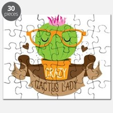 Crazy cactus lady on a banner Puzzle