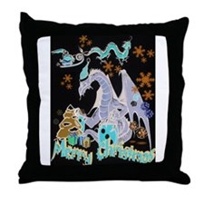 Cute Geek christmas Throw Pillow