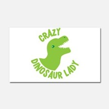 Crazy dinosaur lady Car Magnet 20 x 12
