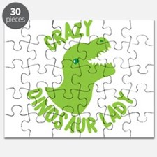 Crazy dinosaur lady Puzzle