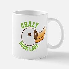 Crazy duck lady Mugs
