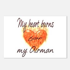 Burning Heart Airman Postcards (Package of 8)