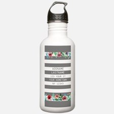 Colorful Floral Painte Water Bottle