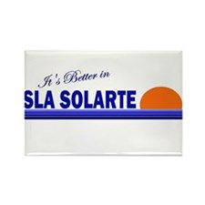 Its Better in Isla Solarte, P Rectangle Magnet
