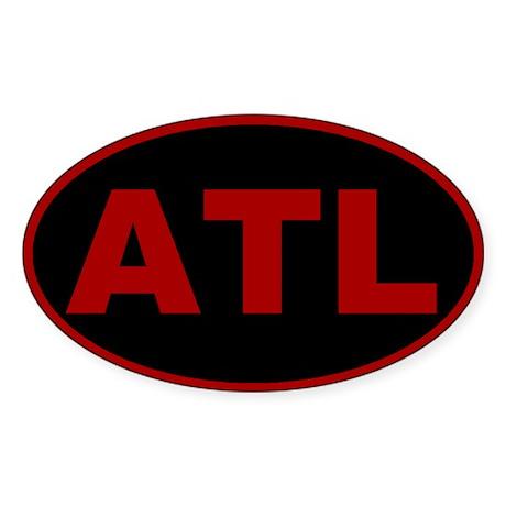 Atlanta, Georgia Oval Sticker