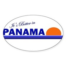 Its Better in Panama Oval Decal