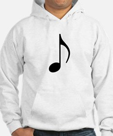 Traditional Basic Black Note Hoodie