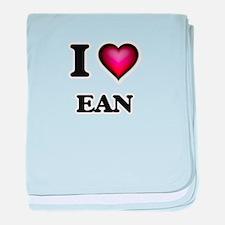 I love Ean baby blanket