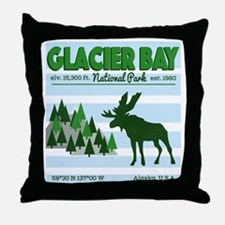 Cute Glacier bay Throw Pillow