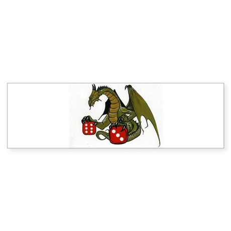 Dice and Dragons Bumper Sticker