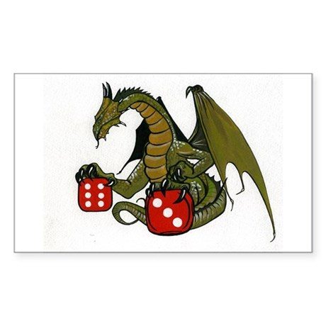 Dice and Dragons Rectangle Sticker