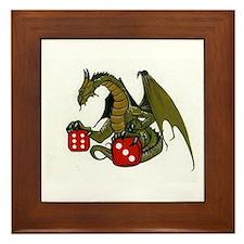 Dice and Dragons Framed Tile