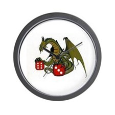 Dice and Dragons Wall Clock