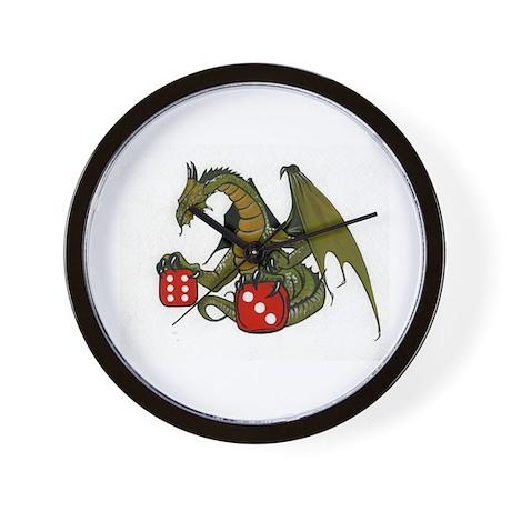 Dice and Dragons Wall Clock