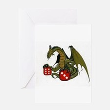 Dice and Dragons Greeting Card