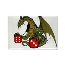 Dice and Dragons Rectangle Magnet