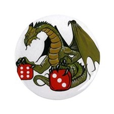 """Dice and Dragons 3.5"""" Button"""