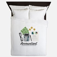 Accountant Profession Queen Duvet