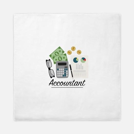 Accountant Profession Queen Duvet