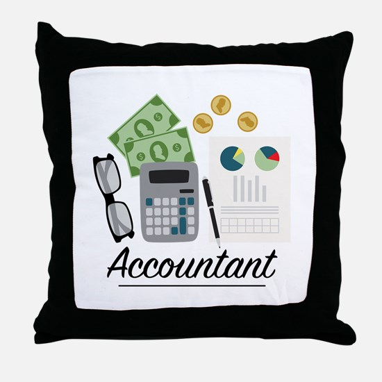 Accountant Profession Throw Pillow