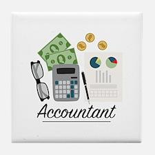 Accountant Profession Tile Coaster