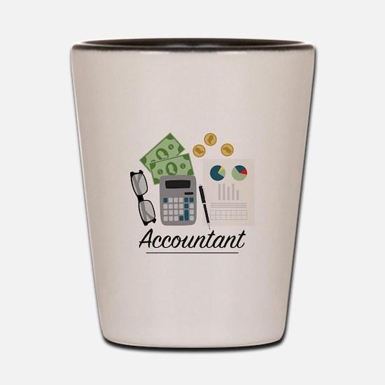 Accountant Profession Shot Glass
