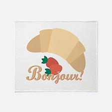 Bonjour Throw Blanket