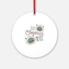 Christmas Yeti Round Ornament