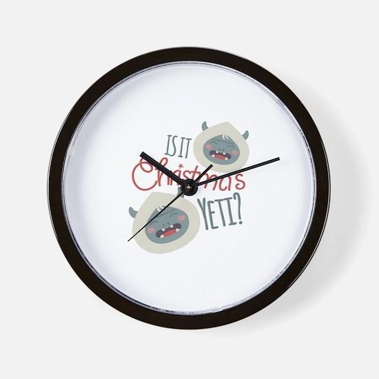 Christmas Yeti Wall Clock