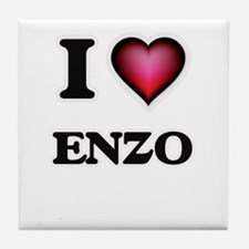 I love Enzo Tile Coaster