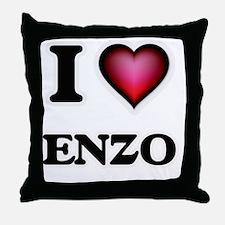 I love Enzo Throw Pillow