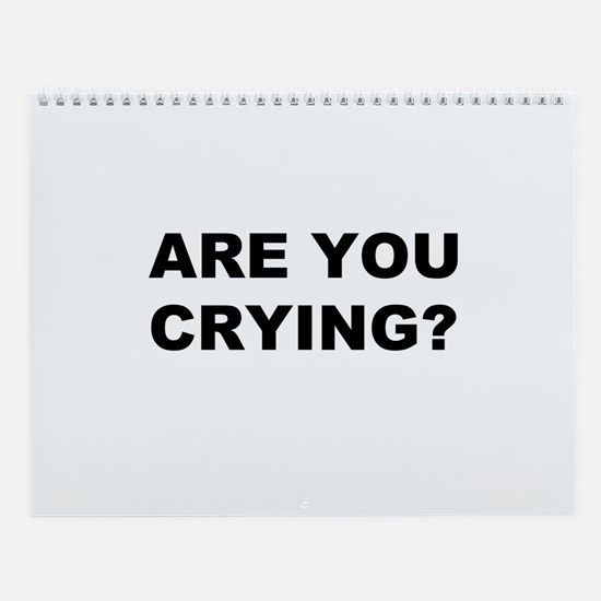 Are You Crying? Wall Calendar