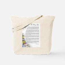 military wife poem Tote Bag