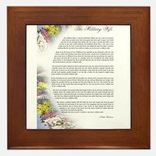 military wife poem Framed Tile