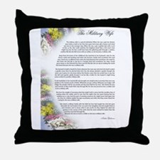 military wife Throw Pillow
