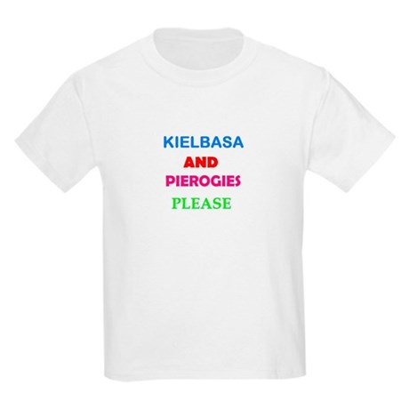 Kielbasa And Pierogie Kids Light T-Shirt