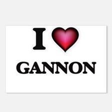 I love Gannon Postcards (Package of 8)